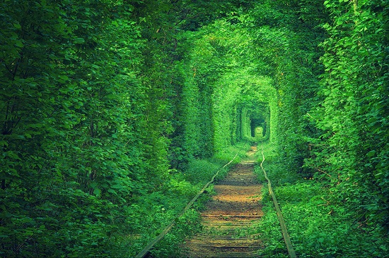 Tunnel dell amore Klevan Ucrania