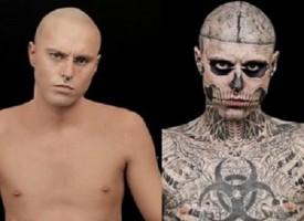 Zombie boy, crederesti mai che questo è l'uomo più tatuato al mondo ?