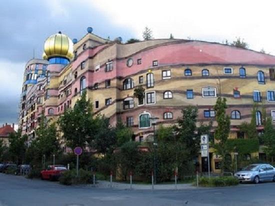 Forest Spiral Hundertwasser Building (Darmstadt) Germania