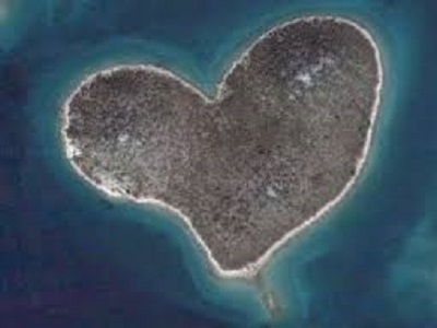 Galesnjak isola forma cuore