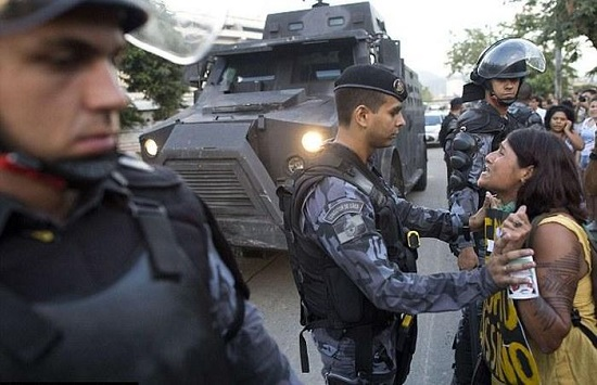 brazilians protest world cup