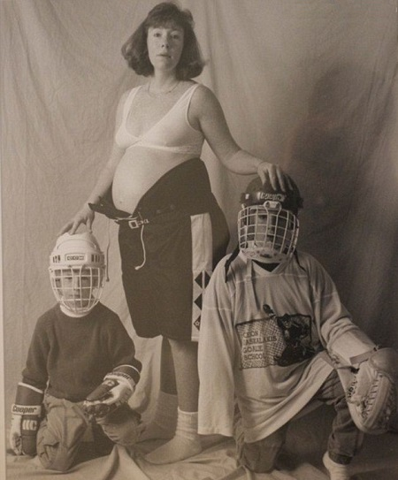 donna foto famiglia incinta