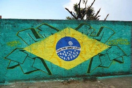 protesta word cup brasile