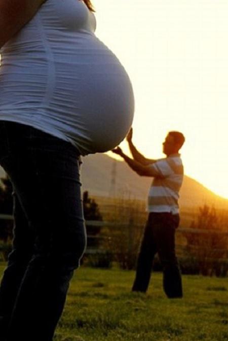selfie donna incinta