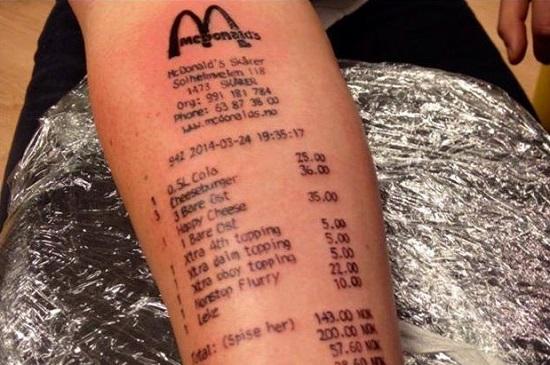 tatuaggio mc donalds