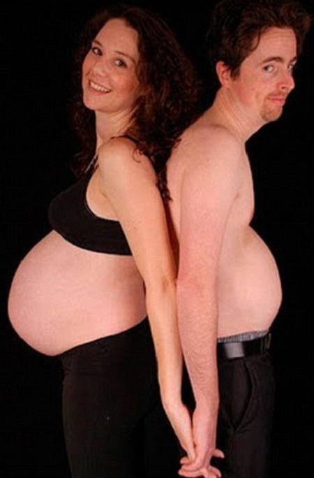 uomo donna gravidanza