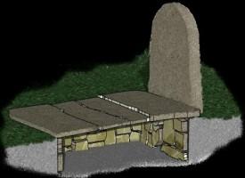 Anziana signora convive con una tomba in casa