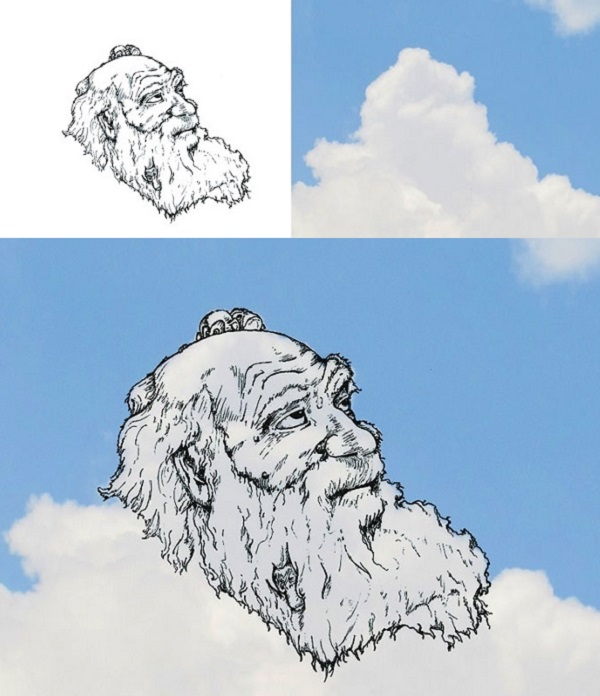 Charles Darwin nuvole Martin Feijoo