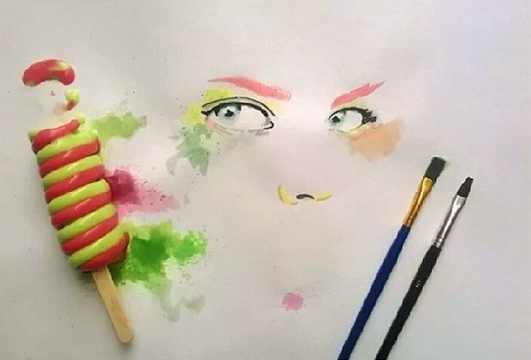 disegno artista gelato Othman Toma