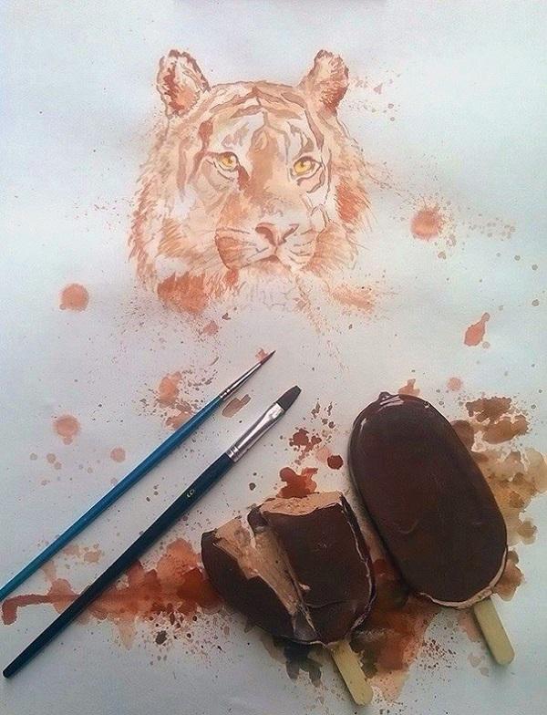 disegno leone gelato