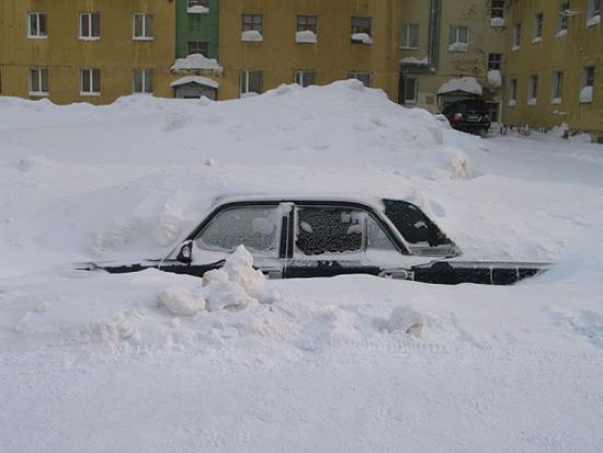 freddo polare a Norilsk