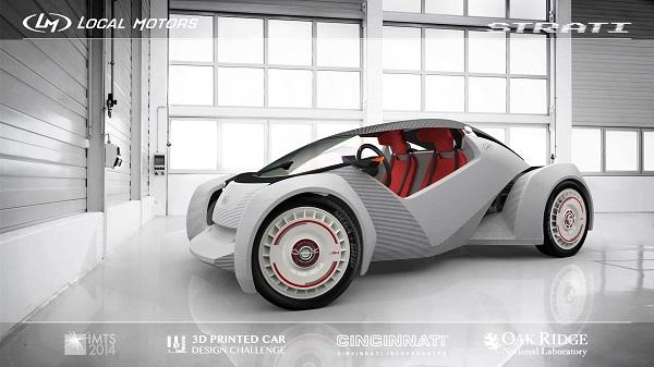 strati automobile stampata in 3d