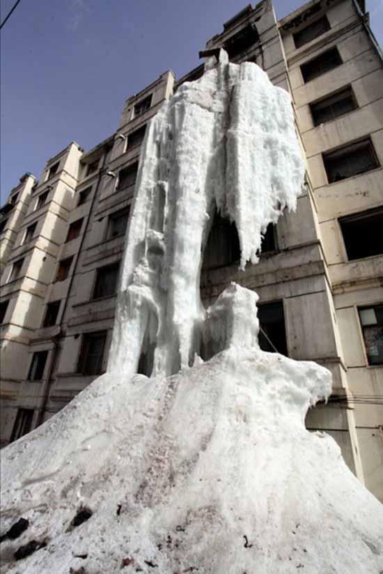 Wen Hsu e la sua cascata di ghiaccio