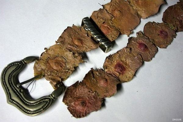 cintura fatta con pelle umana