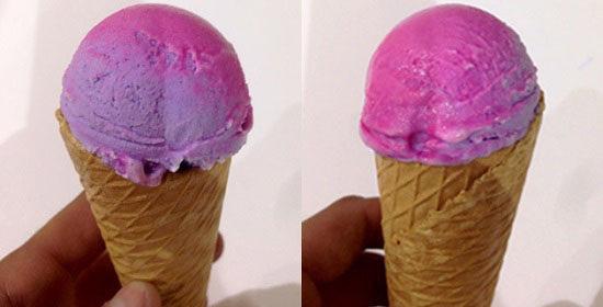 stesso gelato di colore diverso