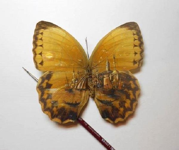 micro disegni ali farfalla