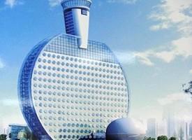 In Cina l'hotel a forma di racchetta da ping pong