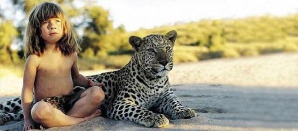 bambina leopardo