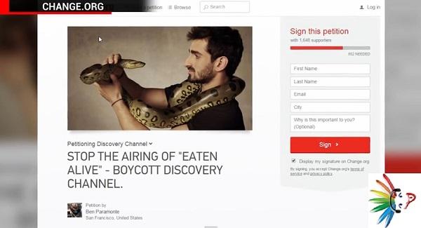 eaten alive anaconda petizione