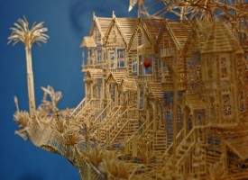 Scultura di San Francisco con 100.000 stuzzicadenti e 35 anni di lavoro