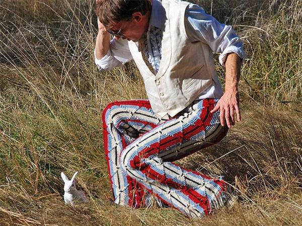 uomo uncinetto pantaloni