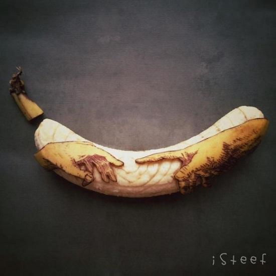 artista olandese con le banane