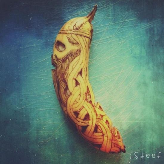 fruit art con le banane