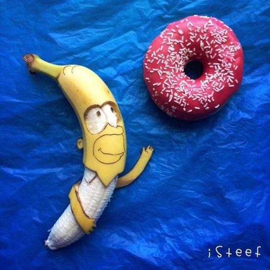 homer simpson con le banane
