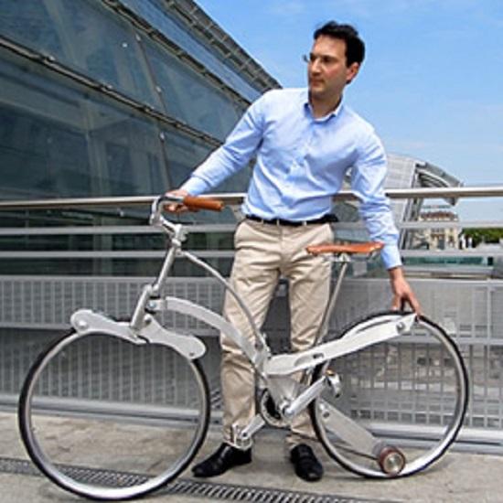 bicicletta pieghevole senza raggi