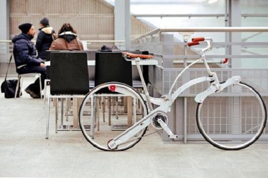 bicicletta senza raggi pieghevole