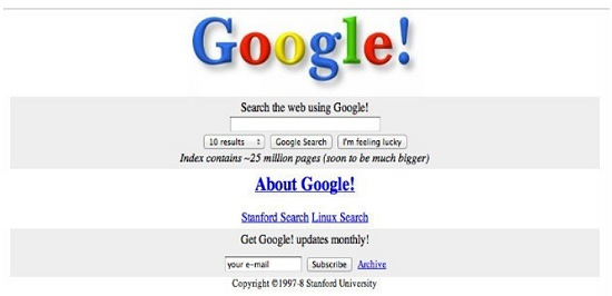 google 1997-1998 grafica originale