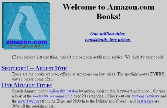 amazon sito grafica originale