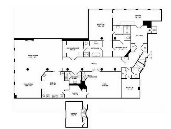 ghost piantina appartamento