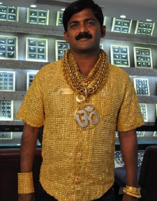 camicia in oro