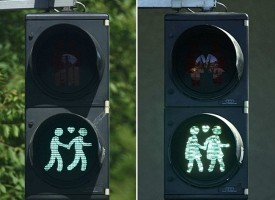 I semafori di Vienna sono stati muniti di una segnaletica gay friendly