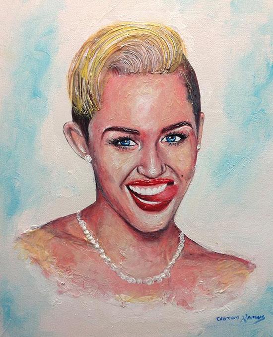 opera dentifricio Miley Cirus Crsitiam Ramos