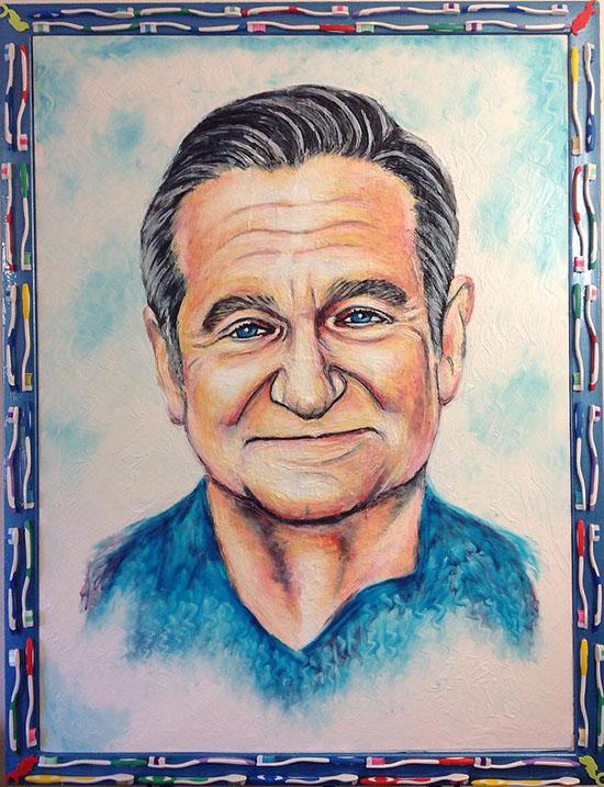 pittura dentifricio Crsitiam Ramos Robin Williams