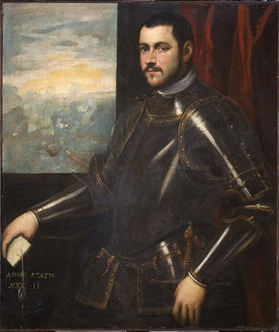 olio su tela Bottega di Domenico Tintoretto Ritratto di ammiraglio veneziano