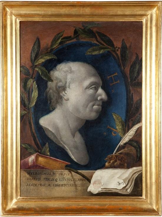 olio su tela Giovanni Benini Ritratto di Girolamo Pompei