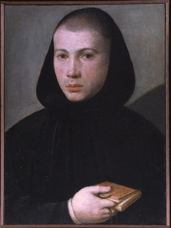 olio su tela Giovanni Francesco Caroto Ritratto di giovane monaco benedettino