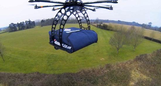 consegna pizza drone