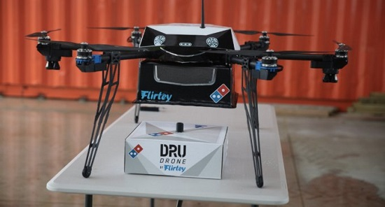 drone consegna pizze
