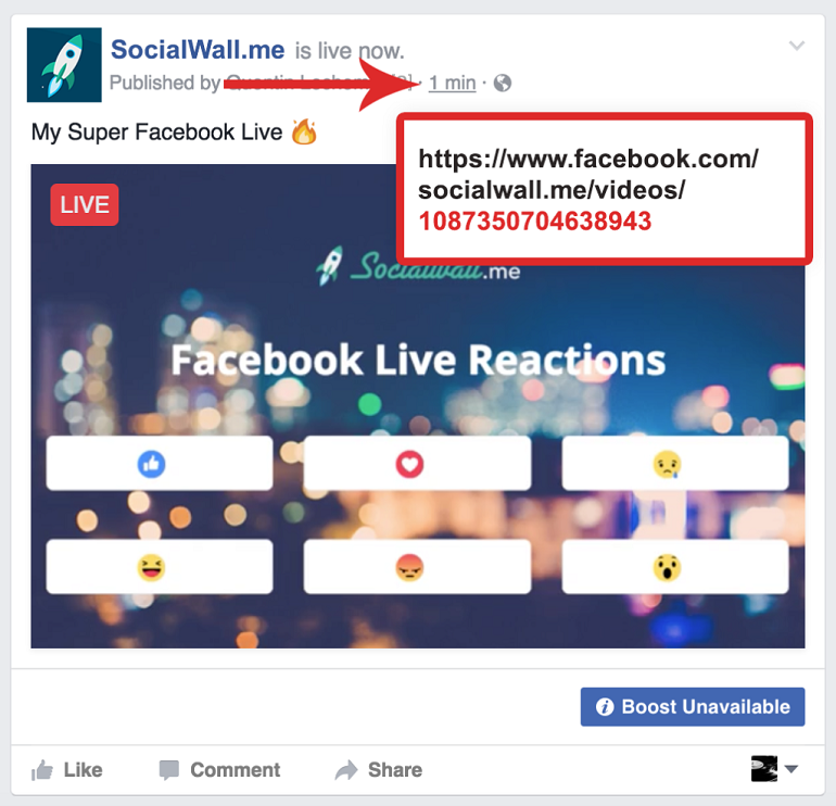 id facebook live reaction