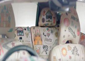 Da Hertz la prima automobile con gli interni che si possono colorare come un album da disegno